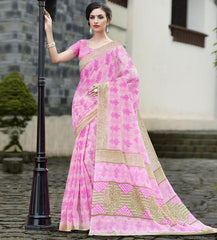 Pink Color Bhagalpuri Casual Function Sarees : Kalashri Collection  YF-45730