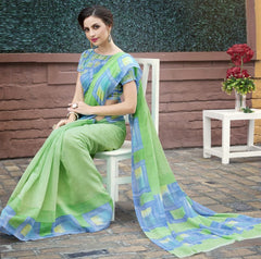 Green Color Bhagalpuri Casual Function Sarees : Kalashri Collection  YF-45732