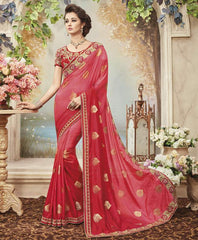 Pink Color Raw Silk Designer Festive Sarees : Yadira Collection  YF-54838