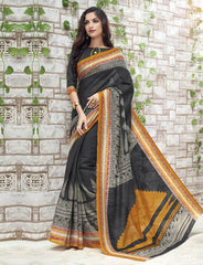 Black Color Bhagalpuri Casual Function Sarees : Kalashri Collection  YF-45741