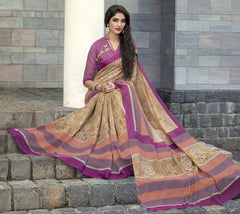 Light Brown & Pink Color Bhagalpuri Casual Function Sarees : Kalashri Collection  YF-45746