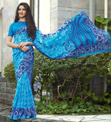 Blue Color Bhagalpuri Casual Function Sarees : Kalashri Collection  YF-45747