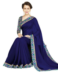 Blue Color Georgette Casual Wear Sarees : Nityapriya Collection  YF-47683