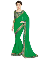 Green Color Georgette Casual Wear Sarees : Nityapriya Collection  YF-47678