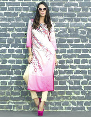 Pink Color Rayon Readymade Party Wear Kurtis ( Sizes - 38, 40, 42, 44 ): Kriyansh Collection  YF-51735