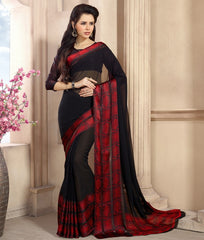 Black Color Georgette Casual Wear Sarees : Kalkin Collection  YF-47620