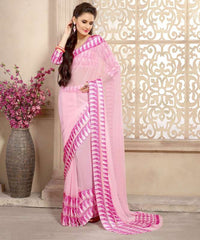Baby Pink Color Georgette Casual Wear Sarees : Kalkin Collection  YF-47626