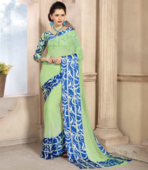 Pastel Green Color Georgette Casual Wear Sarees : Kalkin Collection  YF-47629
