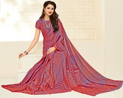 Shades Of Pink & Purple Color Brasso Casual Party Sarees : Niara Collection  YF-49391