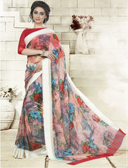 Multi Color Georgette Office Wear Sarees : Geetika Collection  YF-49730