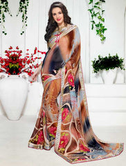 Multi Color Georgette Kitty Party Sarees : Ranjani Collection  YF-50811