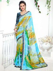 Multi Color Georgette Kitty Party Sarees : Ranjani Collection  YF-50820