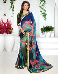 Multi Color Georgette Kitty Party Sarees : Ranjani Collection  YF-50822