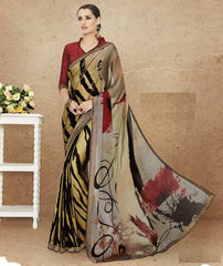 Multi Color Crepe Office Party Sarees : Preshit Collection  YF-52362