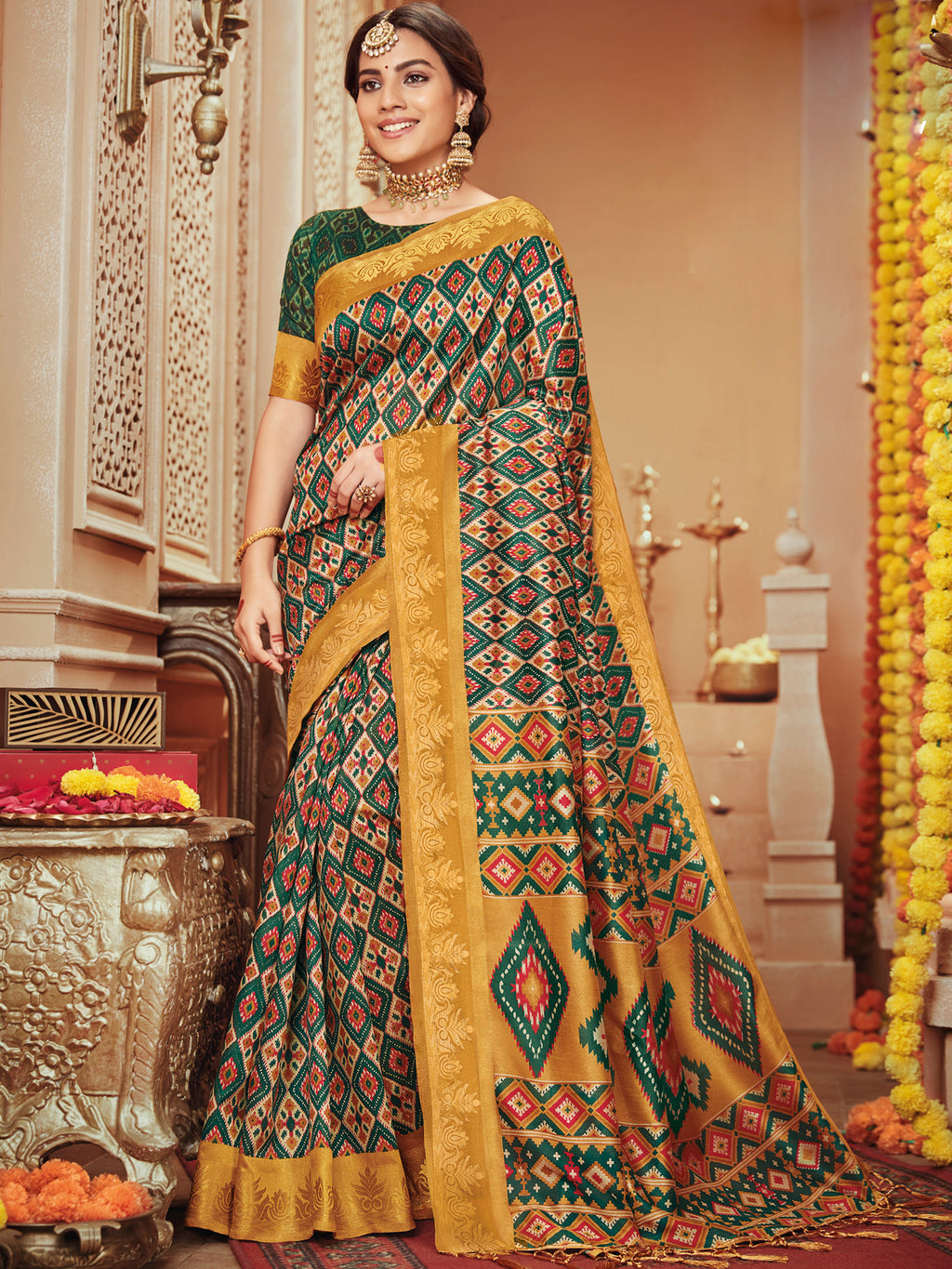 Multi Color Bhagalpuri Festive & Party Wear Sarees NYF-8675