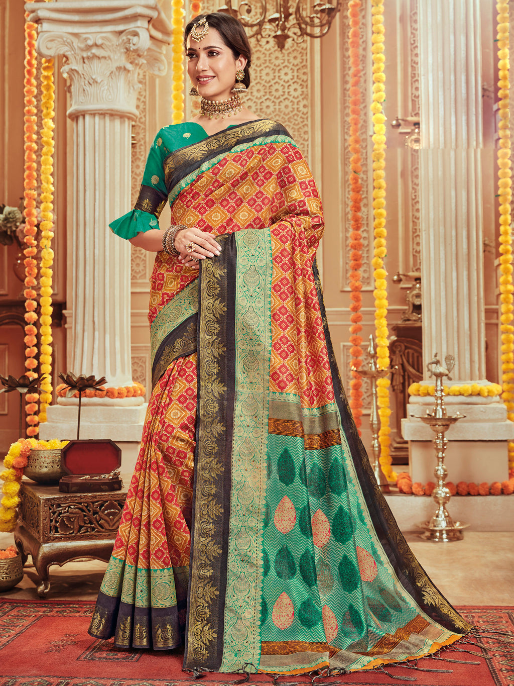 Multi Color Bhagalpuri Festive & Party Wear Sarees NYF-8679