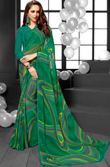 Yellow Color Georgette Casual Sarees : Mandrika Collection  YF-43621