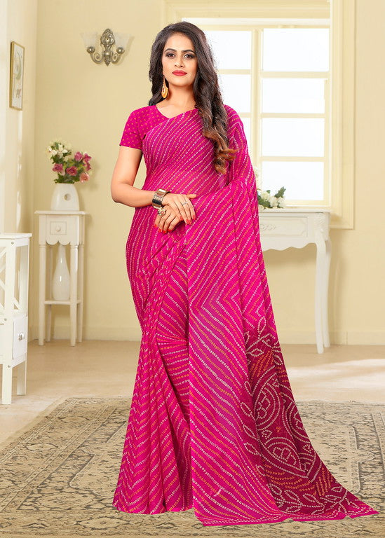 Pink Color Chiffon Casual Wear saree -  Noor Collection YF#10241