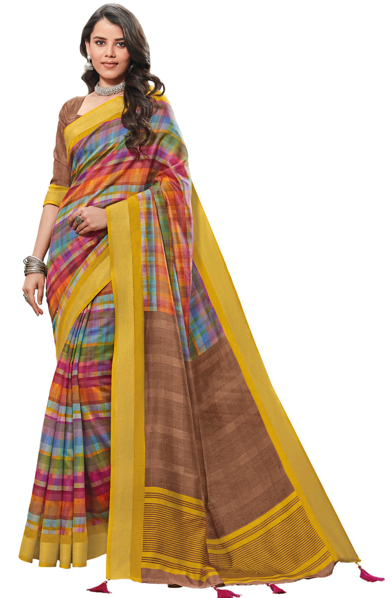 Multi Color Cotton Festive & Function Wear Sarees NYF-8505