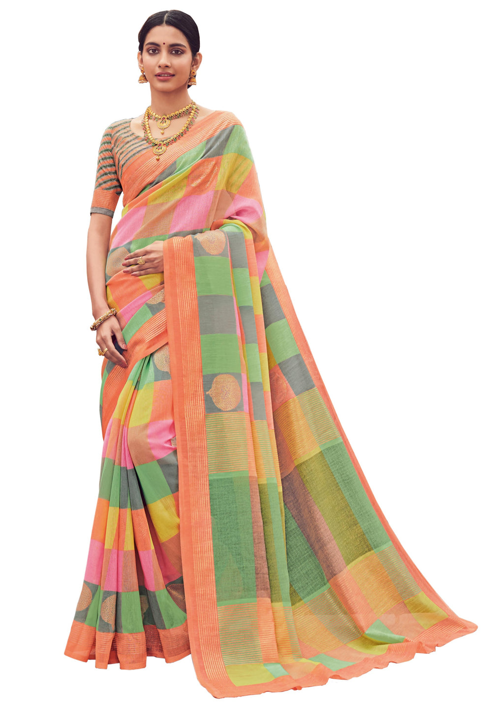Multi Color Bhagalpuri Festive & Party Wear Sarees NYF-8644