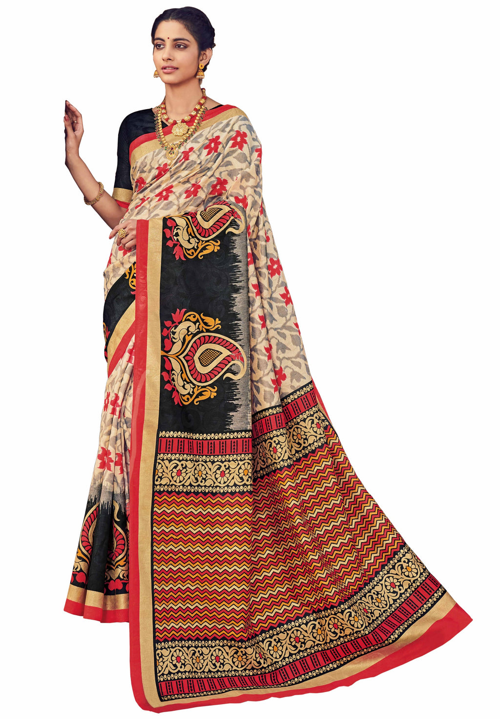 Multi Color Bhagalpuri Festive & Party Wear Sarees NYF-8648