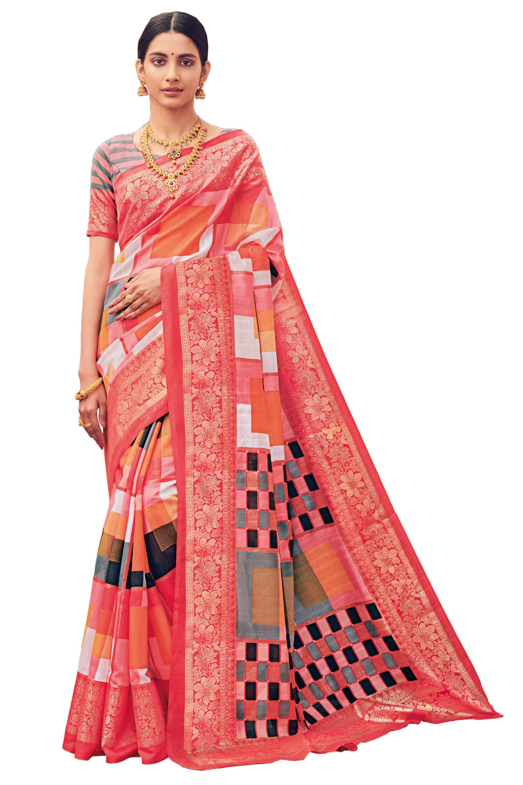 Pink Color Bhagalpuri Festive & Party Wear Sarees NYF-8651