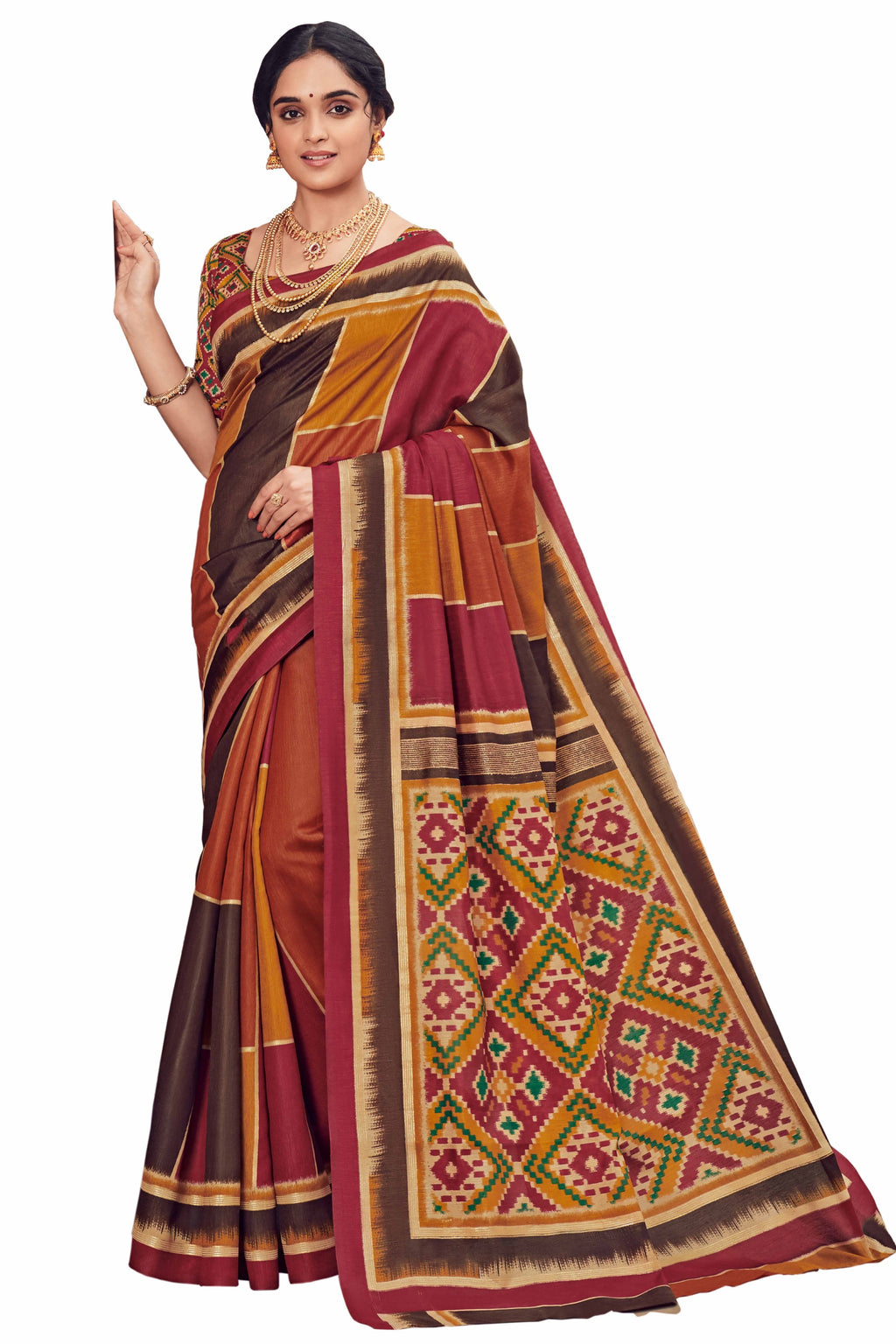 Multi Color Bhagalpuri Festive & Party Wear Sarees NYF-8653