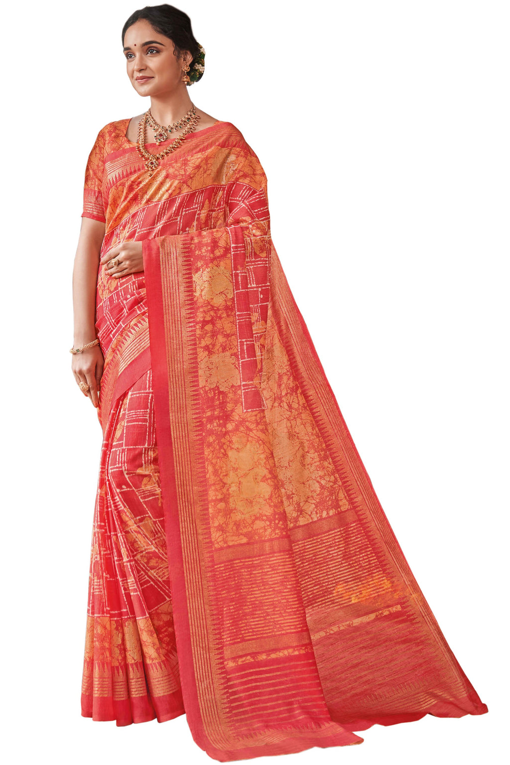 Pink Color Bhagalpuri Festive & Party Wear Sarees NYF-8656