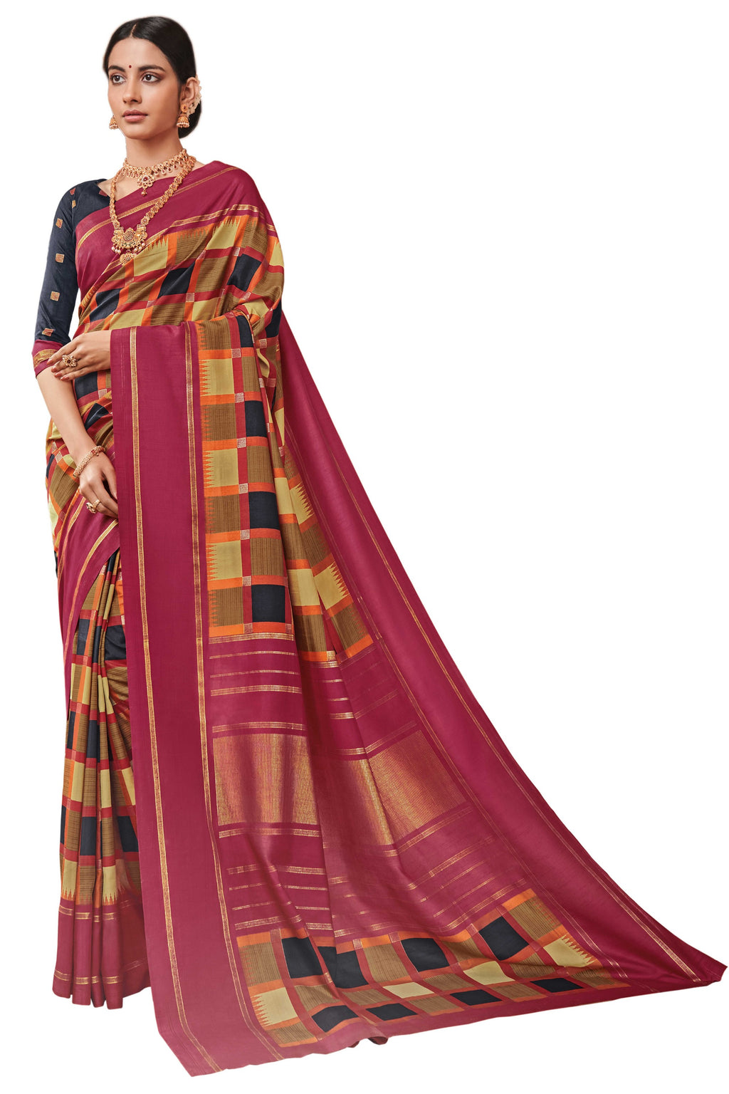 Multi Color Bhagalpuri Festive & Party Wear Sarees NYF-8658