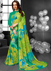 Multi color Color Georgette Casual Sarees : Mandrika Collection  YF-43629