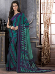 Green Color Crepe Casual Party Sarees : Anudita Collection  YF-47969