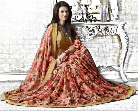 Pink Color Georgette Kitty Party Sarees : Tarita Collection  YF-50904