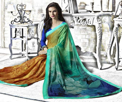 Multi Color Georgette Kitty Party Sarees : Tarita Collection  YF-50913