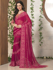 Pink Color Georgette Casual Wear Sarees : Madhulika Collection  YF-50348