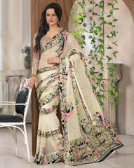 Pastel Green Color Georgette Casual Wear Sarees : Madhulika Collection  YF-50349