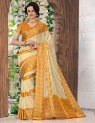 Yellow Color Georgette Casual Wear Sarees : Madhulika Collection  YF-50350