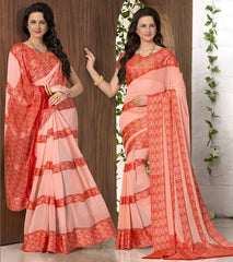 Pink Color Georgette Casual Wear Sarees : Madhulika Collection  YF-50355