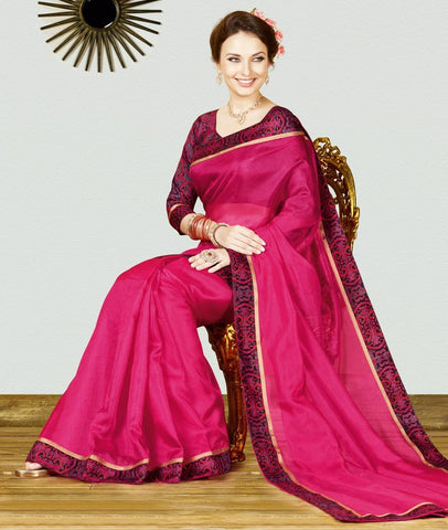 Rani Pink Color Georgette Weaving Net Casual Party Sarees : Gitali Collection  YF-46303