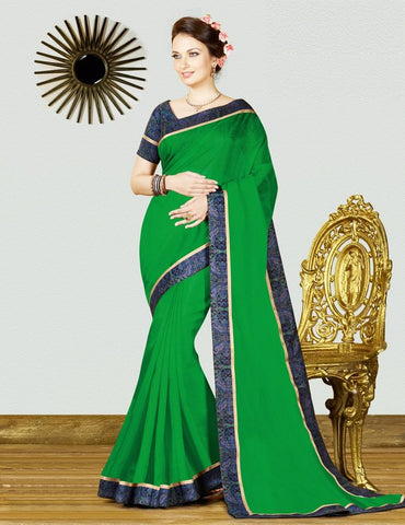 Green Color Georgette Weaving Net Casual Party Sarees : Gitali Collection  YF-46304