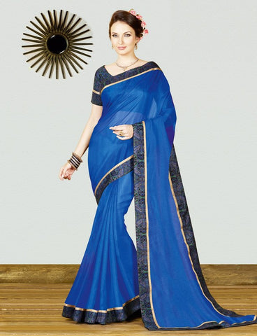 Blue Color Georgette Weaving Net Casual Party Sarees : Gitali Collection  YF-46306