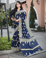 Blue Color Bhagalpuri Office Wear Sarees : Tanrika Collection  YF-50682