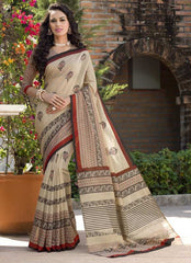 Light Coffee Color Bhagalpuri Office Wear Sarees : Tanrika Collection  YF-50690