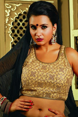 Golden Color Padded Fancy Material Readymade Designer Blouses (Freesize): Patrika Collection  YF-38220