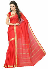 Red Color Cotton Casual Wear Sarees : Varni Collection  YF-30205