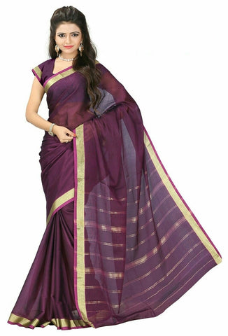 Magenta Color Cotton Casual Wear Sarees : Varni Collection  YF-30206