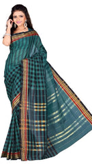 Green Color Cotton Casual Wear Sarees : Varni Collection  YF-30216
