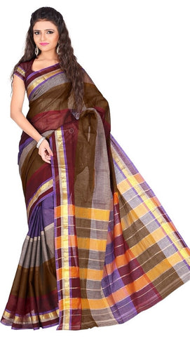 Multi Color Cotton Casual Wear Sarees : Varni Collection  YF-30223