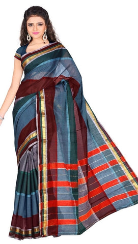 Multi Color Cotton Casual Wear Sarees : Varni Collection  YF-30225