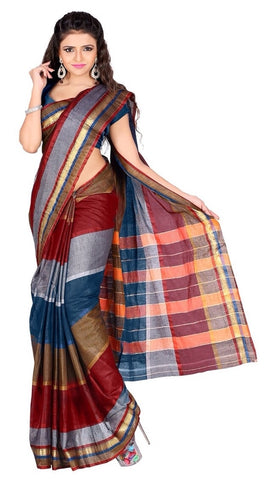Multi Color Cotton Casual Wear Sarees : Varni Collection  YF-30226