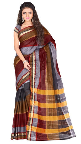 Multi Color Cotton Casual Wear Sarees : Varni Collection  YF-30228